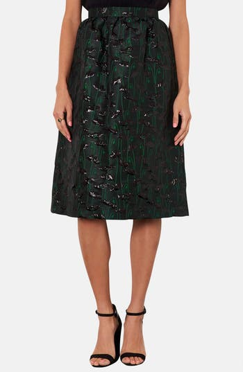 Alternate Image 1 Selected - Topshop Poppy Jacquard Midi Skirt