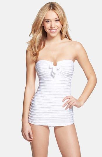 Jessica Simpson Seashells Bandeau One Piece Swimsuit