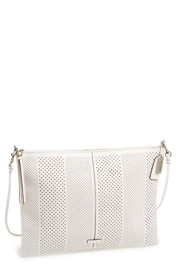 coach  bleecker  perforated leather convertible shoulder