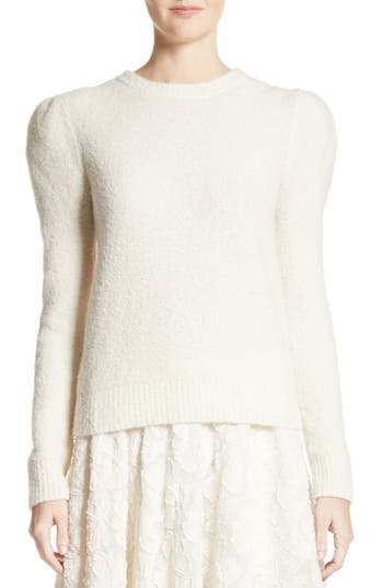 Co Puff Sleeve Cashmere Bl..