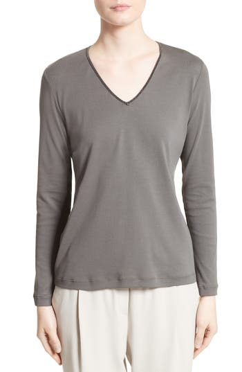 Fabiana Filippi Embellished Jersey Top