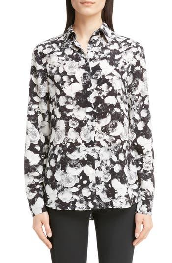 Givenchy Rose Print Silk Blouse