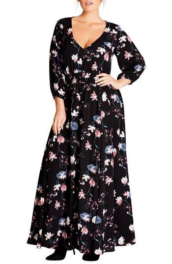 City Chic Sweet Jasmine Maxi Dress (Plus Size)