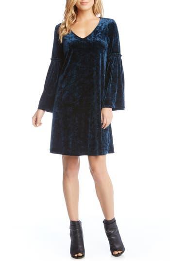 Karen Kane Bell Sleeve Velvet Shift Dress