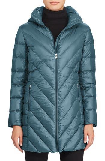 Lauren Ralph Lauren Chevron Quilted Down Jacket