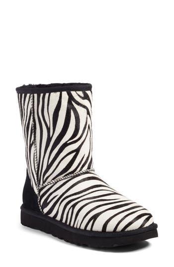 UGG? Classic Short Genuine Calf Hair & Genuine Shearling Boot (Women)