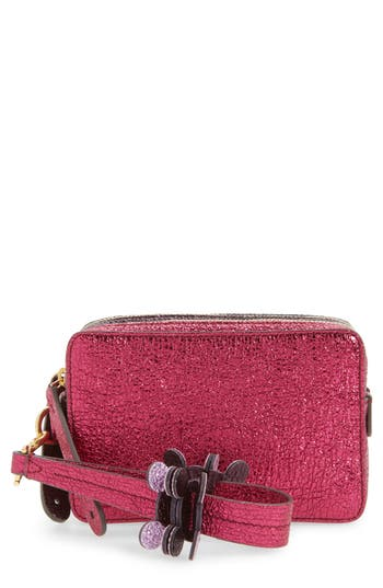 Anya Hindmarch The Double Stack Crinkled Leather Clutch