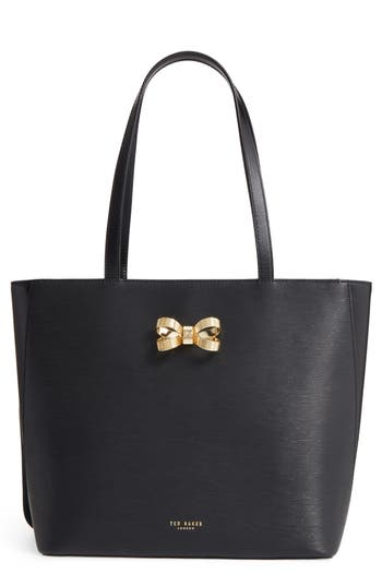 Ted Baker London Larah Looped Bow Leather Shopper