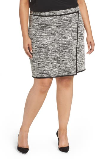 Foxcroft Blithe Double Knit Skirt (Plus Size)