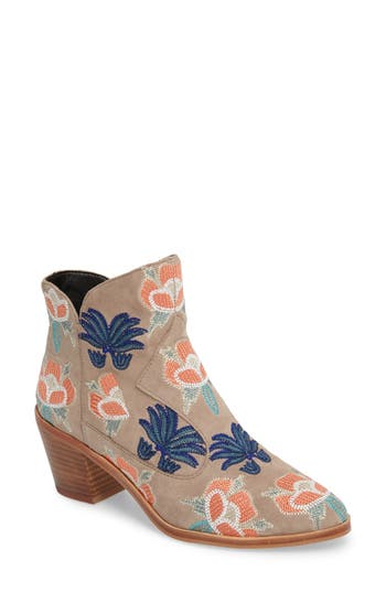 Rebecca Minkoff Lulu Too Flower Embroidered Bootie (Women)