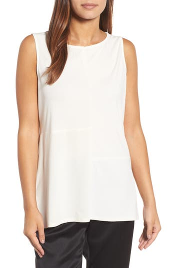 Eileen Fisher High/Low Silk Jersey Shell (Nordstrom Exclusive)