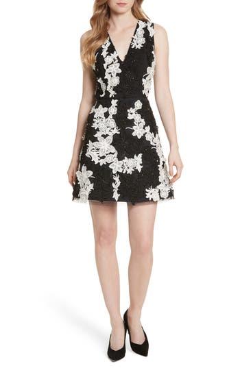 Alice + Olivia Embellished V-Neck Dress
