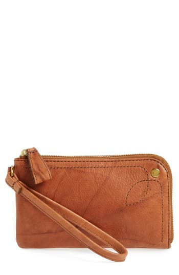 Frye Campus Rivet Leather Wristlet