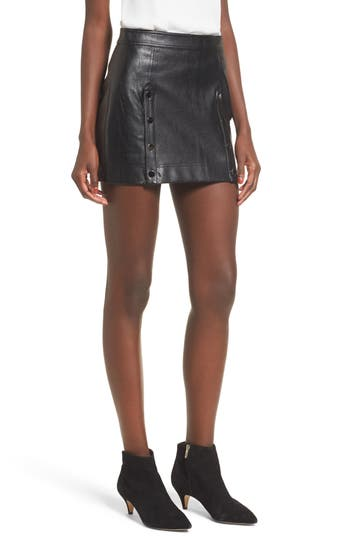 devlin Roseta Faux Leather Miniskirt