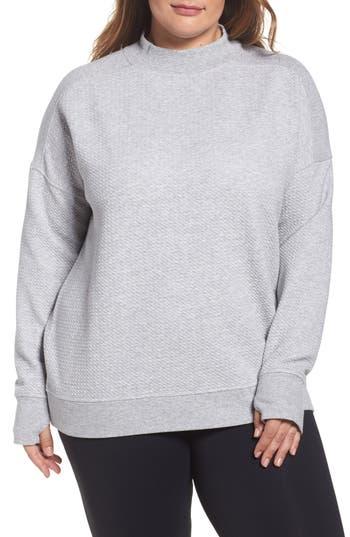 Zella Textured Sweatshirt (Plu..