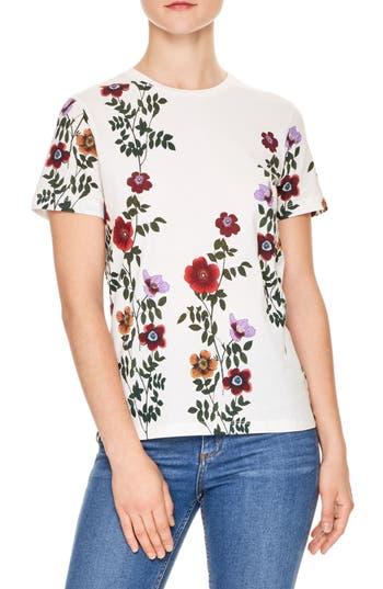 sandro Janesh Floral Print Tee