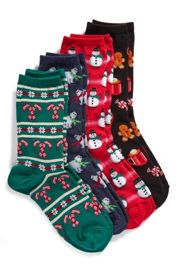 Hot Sox 4-Pack Holiday Cre..