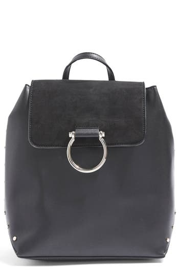 Topshop Remy Trophy Faux Leather Backpack