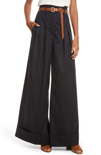 Diane Kruger X Grey Jason Wu Pinstripe Palazzo Pants by Grey Jason Wu