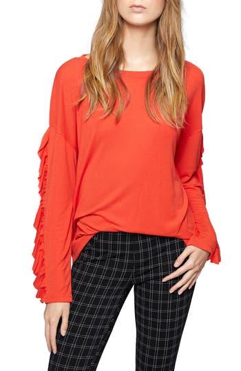 Sanctuary Leona Ruffle Sleeve Sweater (Regular & Petite)