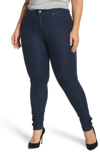 super high-waist skinny ankle jeans