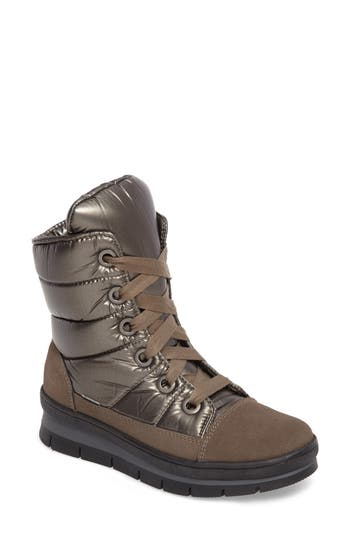 JOG DOG Meribel Waterproof Channel Quilted Lace Up Sneaker Boot (Women)