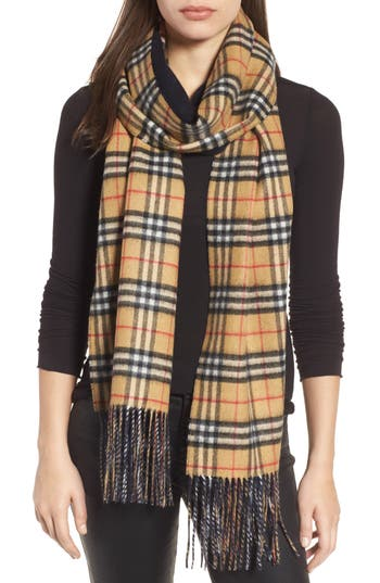 Reversible Vintage Check Cashmere Scarf by Burberry