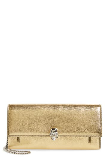 Metallic Leather Wallet On A Chain by Alexander Mcqueen