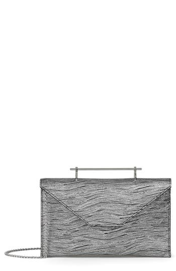 Annabelle Metallic Calfskin Leather Clutch by M2 Malletier