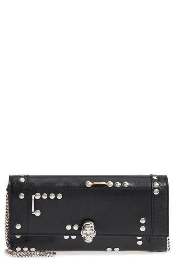 Skull Leather Wallet On A Chain by Alexander Mcqueen