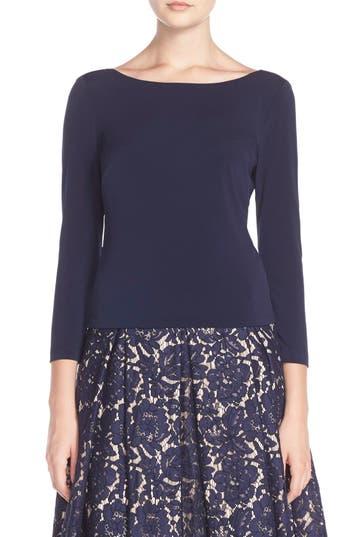 Eliza J Knit V-Back Top