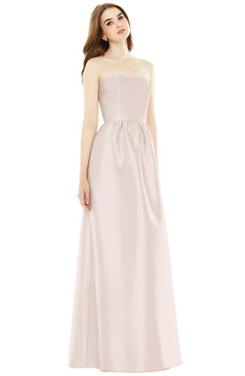 Alfred Sung Strapless Sateen A..