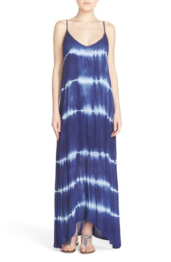 Fraiche by J Border Print Crepe A-Line Maxi Dress