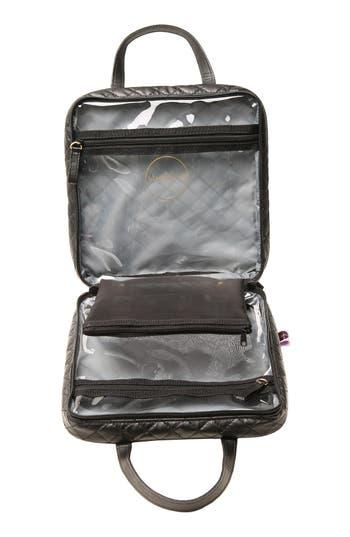'Marissa' Black Quilted Cosmetics Case,                             Alternate thumbnail 2, color,                             No Color