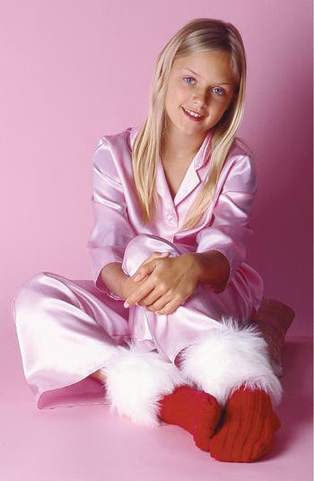 Josie Girl Two Piece Satin Pajamas Little Girls Amp Big