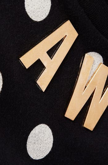 Alternate Image 4  - Topshop Spotted Slogan Sweatshirt