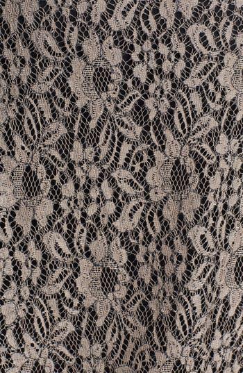 Alternate Image 3  - Bobeau Faux Leather Trim Lace Shell