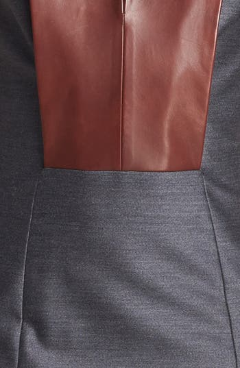 Alternate Image 3  - Alexander Wang Leather Bib Dress