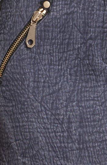 'Fred' Denim Miniskirt,                             Alternate thumbnail 3, color,                             Cadet/ Black