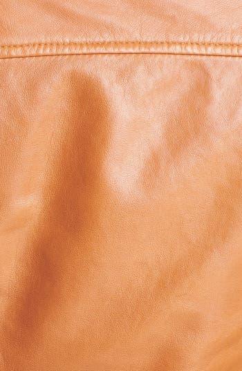 Alternate Image 5  - Halogen® Seamed Leather Jacket