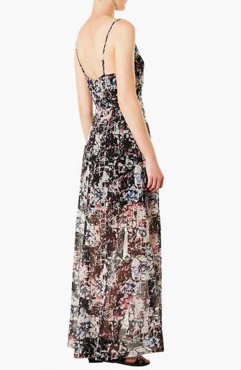 Alternate Image 2  - Topshop Cutout Chiffon Maxi Dress