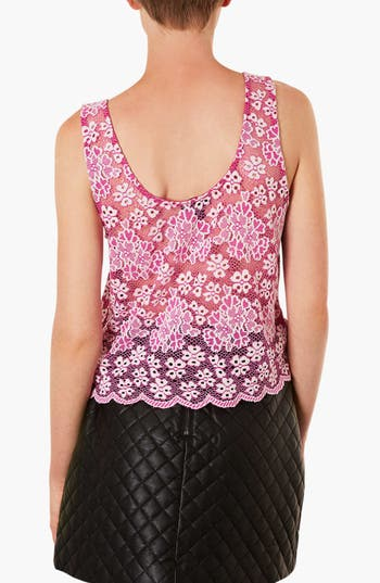 Alternate Image 2  - Topshop Scalloped Lace Tank