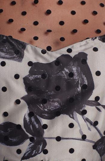 Alternate Image 3  - Eliza J Illusion Dot Print Fit & Flare Dress