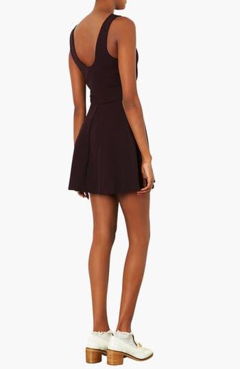Alternate Image 2  - Topshop Textured V-Neck Dress