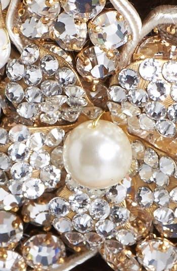 Alternate Image 2  - Halo & Co 'Ferrara' Crystal Flower Comb