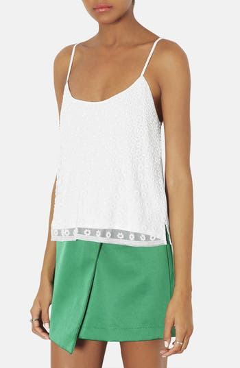 Alternate Image 1 Selected - Topshop Beaded Cutout Camisole