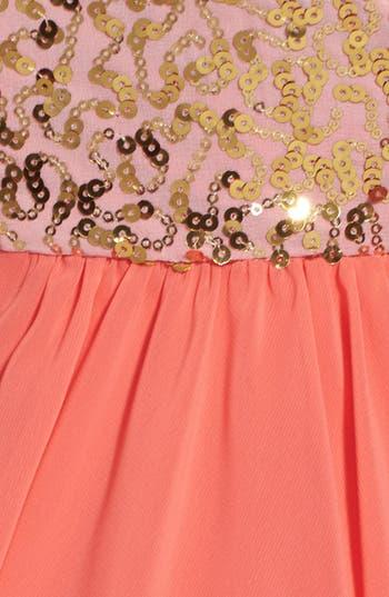 Alternate Image 3  - Way-In Sequin Bodice Fit & Flare Dress (Juniors)