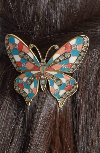 Alternate Image 2  - L. Erickson 'Marbella' Butterfly Barrette