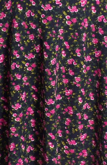 Alternate Image 3  - Soprano Floral Textured Skater Dress (Juniors)