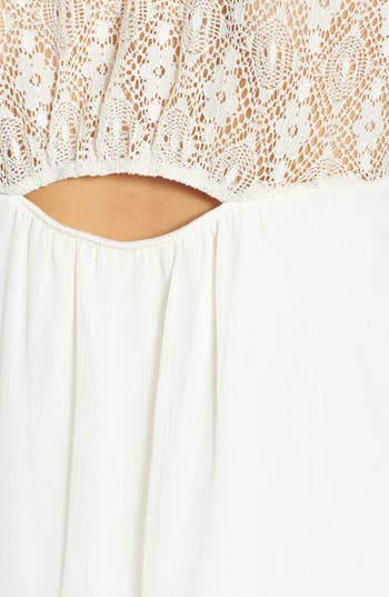 Alternate Image 3  - Socialite Lace Panel A-Line Dress (Juniors)